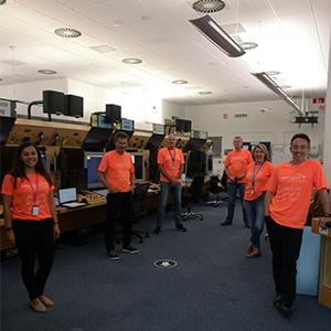 Socially distanced simulation team at NATS CTC