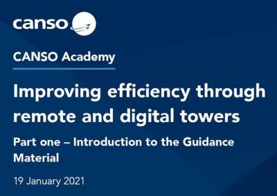Think presenting at CANSO Remote & Digital Tower Academy workshop